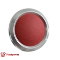 Billet Aluminum Steering Wheel Horn Button Red Leather Satin