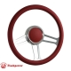 Billet Aluminum Steering Wheel Horn Button White Leather Satin