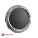 Billet Aluminum Steering Wheel Horn Button Dark Grey Leather Satin