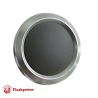 Billet Aluminum Steering Wheel Horn Button Dark Grey Leather Satin