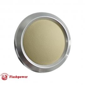 Color Match Horn Button Satin w/Tan Wrap