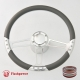 """Trinity VI 14"""" Satin Billet Steering Wheel Kit Half Wrap with Horn Button and Adapter"""