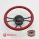 """Viral 14"""" Black Billet Steering Wheel Kit Half Wrap with Horn Button and Adapter"""