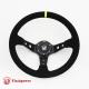 350mm Suede Alloy Steering Wheel Black