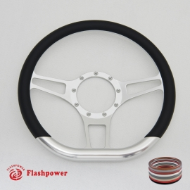 "14"" Secor D Type Billet Steering Wheels with Half Wrap"