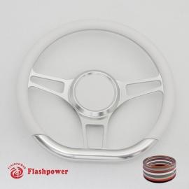 "14"" D Type Billet steering wheel Half Wrap with horn button"