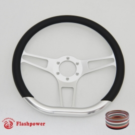 "14"" Sector D VI Billet steering wheels with Half Wrap"