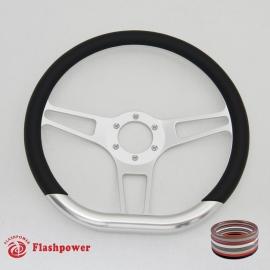 "14"" Sector D VI Billet steering wheels with Half Wrap"