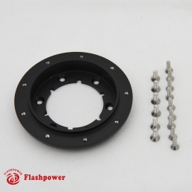 """3/4"""" Conversion for 9 hole Steering Wheel to GM 6 hole hub Black"""
