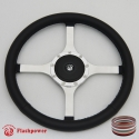"14"" Classic Wrapped Flat Steering Wheel 9 bolt with Horn Button"