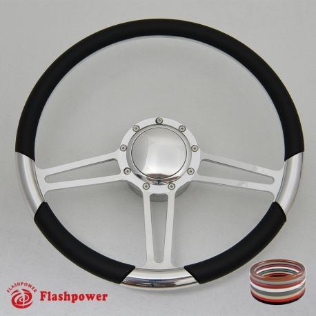 "14/"" Billet Steering Wheel Red Half Wrap Chevrolet Monte Carlo Camaro w// Horn"