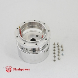 6004A  Flashpower 9 Bolt Steering Wheel Hub Adapter For Tilt Telescopic Buick Cadillac 84-89 Polished