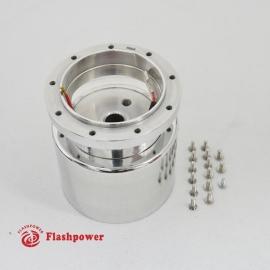 6005A  Flashpower 9 Bolt Steering Wheel Adapter For Tilt Telescopic Buick Oldsmobile 69-83 Polished
