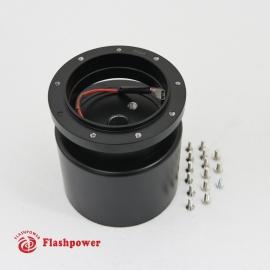 6005B Flashpower 9 Bolt Steering Wheel Adapter For Tilt Telescopic Buick Oldsmobile 69-83 Black