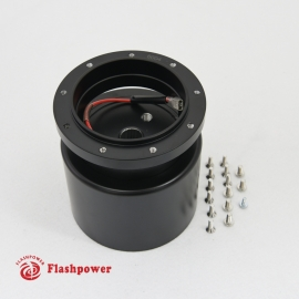 6005B Flashpower 9 Bolt Steering Wheel Adapter For Tilt Telescopic Buick Oldsmobile 69-83 Black