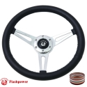 """14"""" Classic Wrapped Steering Wheel 6 bolt with Horn Button"""