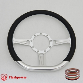 "14"" Tanson D Billet Steering Wheels with Half Wrap"
