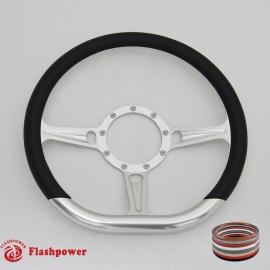 "14"" Tanson D Billet Steering Wheels with Half Wrap"
