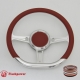 """14"""" Tanson D Billet steering wheel Half Wrap with horn button"""