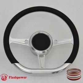 "14"" D Type Billet steering wheels Hot Rod GM Buick Riviera Lesabre"