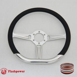 "14"" Tanson VI D Type Billet steering wheels with Half Wrap"