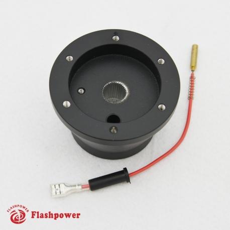 Steering Wheel Short Hub Adapter Billet Black