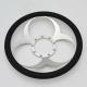 "Bio-Hazard 14"" Satin Billet Steering Wheel Kit Half Wrap with Horn Button and Adapter"