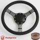 "14"" Banjo Black Billet Steering Wheel With Half Wrap and Horn Buton"