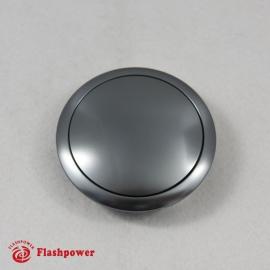 Billet Aluminum 9 Bolt Horn Button Small Plain Gun Metal