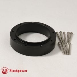 """SteeringWheelHubExtensionSpacer 1"""" for 9 bolt Black"""