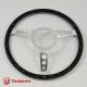 14'' Black Forest Satin Steering Wheel with billet horn button