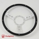 15'' Black Forest Satin Steering Wheel with billet horn button