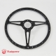 14'' Laminated Black Forest Wood Black Steering Wheel with Horn Button
