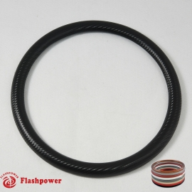"15.5"" Half Wrap for Billet Steering wheels-Carbon Fiber Vinyl Wrap"