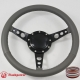"14"" Classic Wrapped Steering Wheel 9 bolt Black with Black Billet Horn Button"