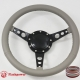 "15"" Classic Wrapped Steering Wheel 9 bolt with Horn Button Black"