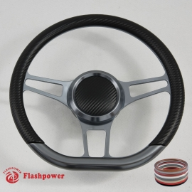 "14"" Sector D Type Billet steering wheel Gun Metal"