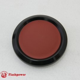 Color Match Horn Button Black w/ Burgundy Center