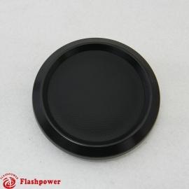 Color Match Horn Button Black w/ Black Center Wrap