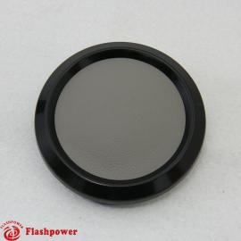 Color Match  Horn Button Black w/ Light Grey Center Wrap