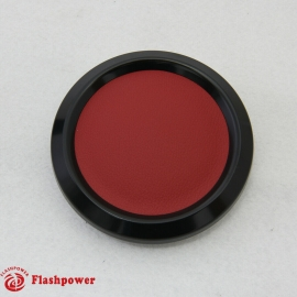 Color Match Horn Button Black w/ Red Wrap Center