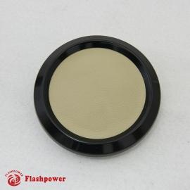 Color Match Horn Button Black w/ Tan Wrap Center