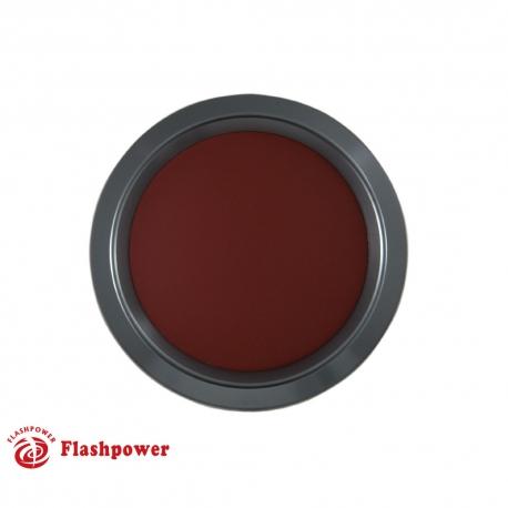 Color Match Horn Button Gun Metal w/Burgundy Wrap