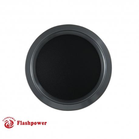 Color Match Horn Button Gun Metal w/ Black Wrap Center