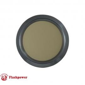 Color Match Horn Button Gun Metal w/Tan Wrap