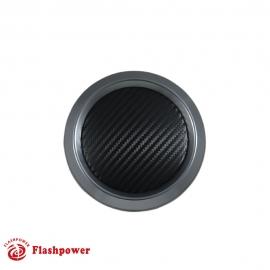 Color Match Horn Button, Gun Metal w/ Black CF Vinyl Wrap Center