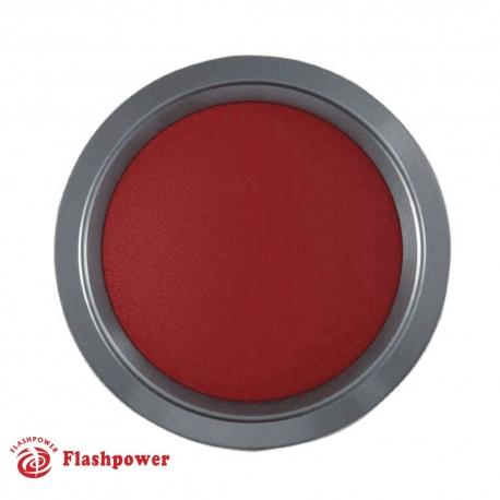 Color Match Horn Button Gun Metal w/Red Wrap