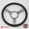 "Banjo 15.5"" Gun Metal Billet Steering Wheel Fully Wrapped"