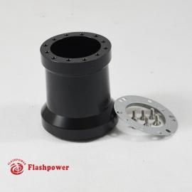 Flashpower steering wheel adapter 6 bolt Billet Black for Porsche