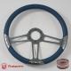 "14"" Satin Billet Steering Wheel Kit With Half Wrap"